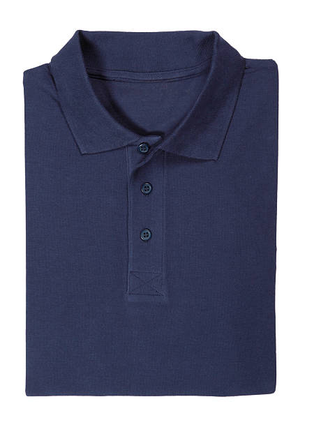 """blue blank polo shirt folded,with clipping path"""